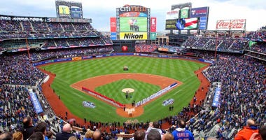 General view of a game between the Mets and Phillies at Citi Field on April 8, 2016