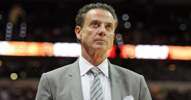 Louisville Cardinals head coach Rick Pitino during the second half of the game against the Florida State Seminoles at the Donald L. Tucker Center.