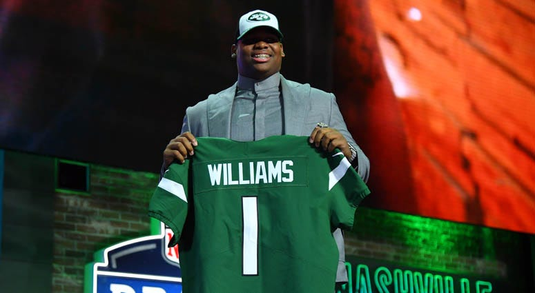 Quinnen Williams (Alabama) is selected as the number three overall pick to the New York Jets in the first round of the 2019 NFL Draft in Downtown Nashville.