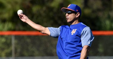 Mets quality-control coach Luis Rojas is seen during spring training at First Data Field in Port St. Lucie, Florida on Feb. 15, 2019.