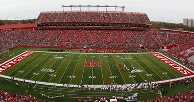 FILE -- A general view of a Rutgers football home game in 2012.