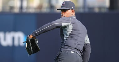 Yankees starting pitcher Luis Severino throws at spring training on Feb. 12, 2020, at George M. Steinbrenner Field in Tampa, Florida.