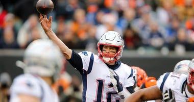 Patriots quarterback Tom Brady throws against the Bengals on Dec. 15, 2019, in Cincinnati.