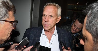 Giants Chairman and Executive Vice President Steve Tisch attends the NFL owners meeting at Conrad Hotel in New York on Oct 17, 2017.