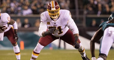 Redskins offensive tackle Trent Williams in action against the Eagles Dec 3, 2018; Philadelphia, PA