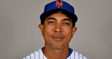 Mets Quality Control coach Luis Rojas poses for a photo on photo day Feb 21, 2019; Port St. Lucie, FL