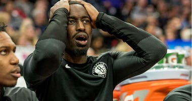 Theo Pinson reacts to a call during the fourth quarter against the Sacramento Kings at Golden 1 Center.