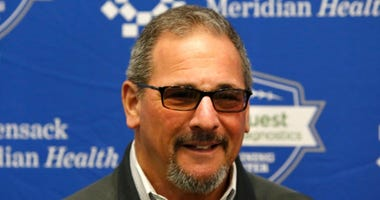 New York Giants general manager Dave Gettleman during rookie minicamp on May 3, 2019 at Quest Diagnostic Training Center.