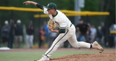 Delbarton vs. West Morris in the Morris County Tournament baseball final at Montville High School on Saturday, March 11, 2019. D pitcher #22 Jack Leiter. Delbarton Vs West Morris