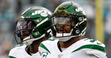 Jets strong safety Jamal Adams looks on during the first quarter against the Jaguars Oct 27, 2019; Jacksonville, FL