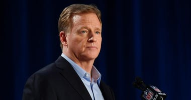 NFL commissioner Roger Goodell during a press conference before Super Bowl LIV on Jan 29, 2020 at Hilton Downtown.