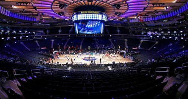 Big East Tournament game at an empty Madison Square Garden Mar 12, 2020; New York, New York