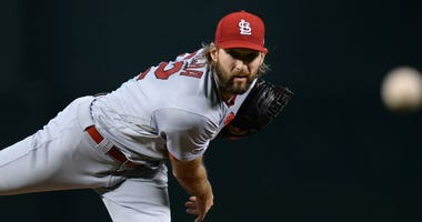 St. Louis Cardinals starting pitcher Michael Wacha (52) pitches against the Arizona Diamondbacks during the first inning at Chase Field