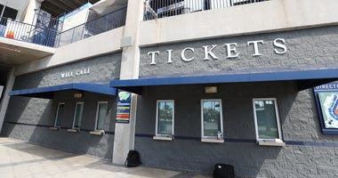 A general view of the closed ticket office at George M. Steinbrenner Field were the spring training game between the Minnesota Twins and New York Yankees has been canceled do to the COVID-19 virus.