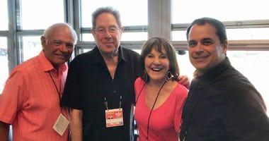 From left, Joe Castiglione, John Sterling, Suzyn Waldman and Tim Neverett