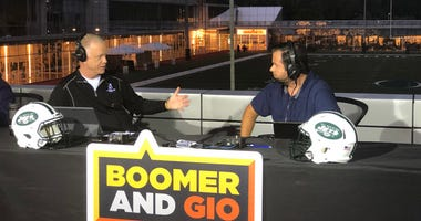 Boomer and Gio broadcast live from Jets training camp in Florham Park, New Jersey, on Aug. 20, 2018.