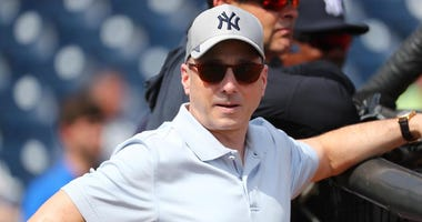 Yankees general manager Brian Cashman during spring training on Feb. 18, 2020, at George M. Steinbrenner Fieldin Tampa, Florida.