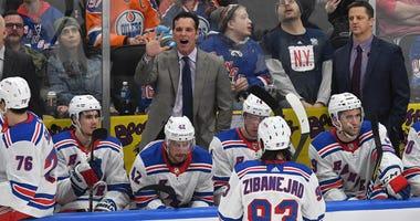 New York Rangers coach David Quinn