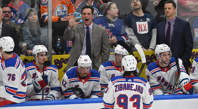 New York Rangers coach David Quinn