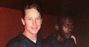Glenn DiSarcina with Michael Jordan