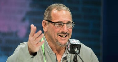 Dave Gettleman at the NFL Combine