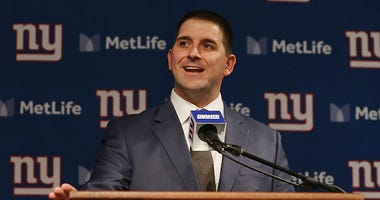 Joe Judge speaks at his introductory press conference with Giants