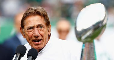 Joe Namath speaks celebrating the Jets' Super Bowl III anniversay.