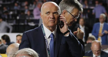 Lou Lamoriello of the Islanders attends the 2019 NHL Draft at the Rogers Arena on June 22, 2019 in Vancouver, Canada.