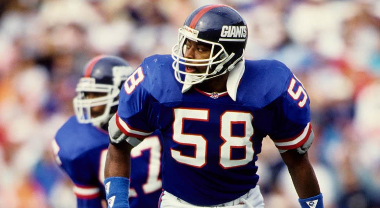 Giants linebacker Carl Banks in 1991