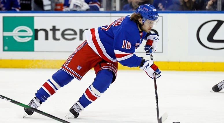 Rangers left wing Artemi Panarin in action during the second period against the Columbus Blue Jackets Jan 19, 2020; New York, New York