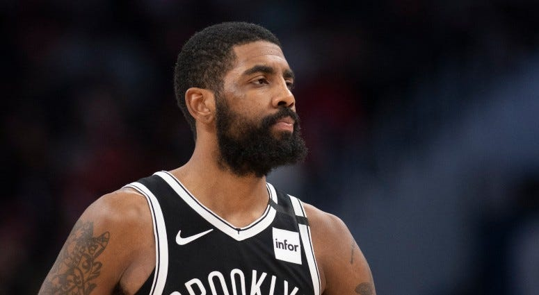 Brooklyn Nets guard Kyrie Irving (11) during the second half against the Washington Wizards on Feb 1, 2020 at Capital One Arena.