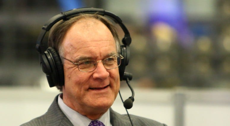 Baltimore Ravens former head coach Brian Billick is interviewed on radio row in the Moscone Center on Feb 2, 2016 prior to Super Bowl 50 between the Carolina Panthers and the Denver Broncos.