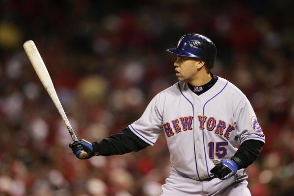 Carlos Beltran at the plate for the Mets in 2006.