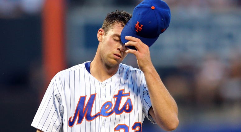 Mets pitcher Steven Matz reacts after allowing three runs to the Yankees during the first inning Aug. 17, 2018, at Citi Field.