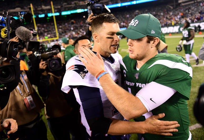 Tom Brady and Sam Darnold