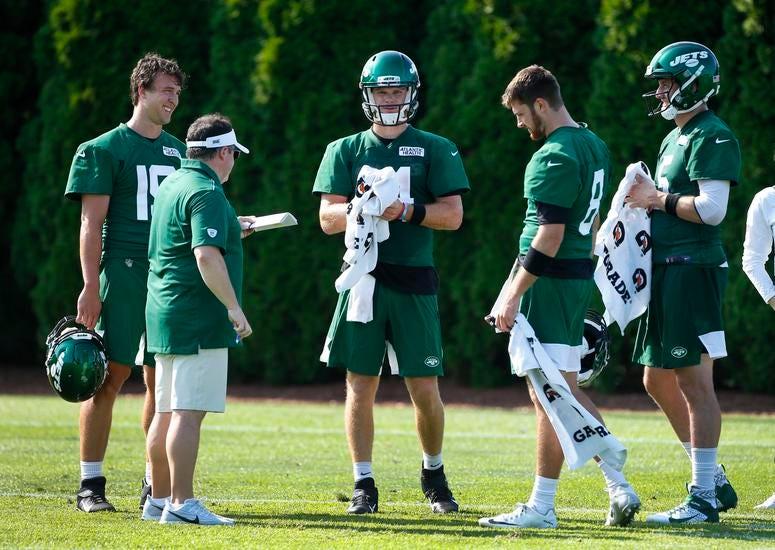 Sam Darnold in Jets camp