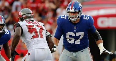 Giants offensive lineman Justin Pugh