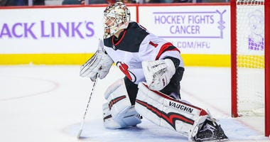 Devils goaltender Keith Kinkaid