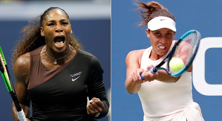 From left, Serena Williams and Madison Keys