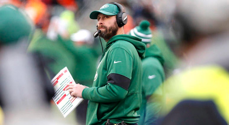 Jets coach Adam Gase watches during a game against the Bengals on Dec. 1, 2019, at Paul Brown Stadium in Cincinnati.