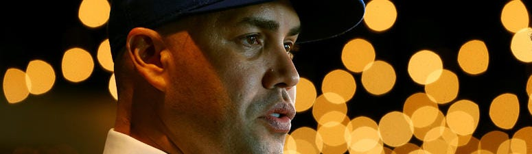 Carlos Beltran talks to the media after being introduced by as the manager of the New York Mets during a press conference at Citi Field on Nov. 4, 2019.