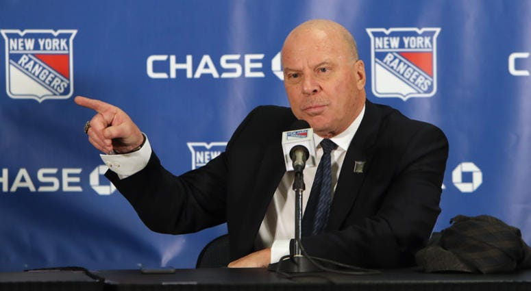 Former New York Ranger head coach Mike Keenan meets with the media prior to the Rangers game against the Carolina Hurricanes at Madison Square Garden on February 08, 2019