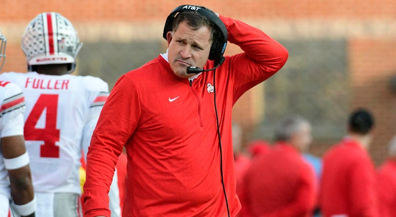 Greg Schiano with Ohio State in 2018