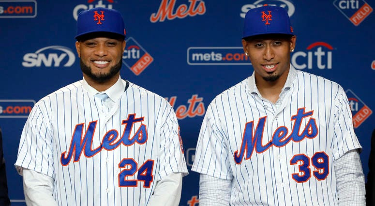 New Mets second baseman Robinson Cano and closer Edwin Diaz