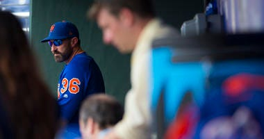 Mets manager Mickey Callaway looks on in the dugout prior to the game against the Phillies on June 24, 2019, at Citizens Bank Park in Philadelphia.