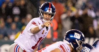 Giants quarterback Eli Manning prepares to take a snap during first quarter against the Philadelphia Eagles Dec 9, 2019; Philadelphia, PA