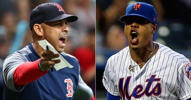 Red Sox manager Alex Cora and Mets pitcher Marcus Stroman