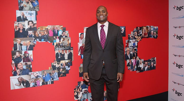 Former Giants receiver Amani Toomer at a charity event