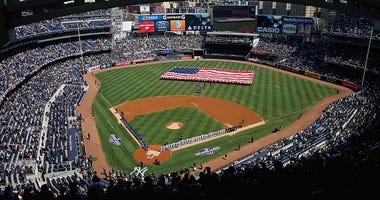 Yankee Stadium on Opening Day 2015.