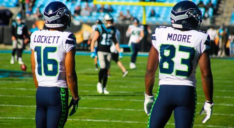 Seahawks WRs Tyler Lockett and David Moore